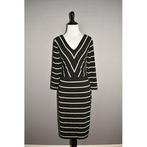 WHITE HOUSE BLACK MARKET Striped Sheath Dress